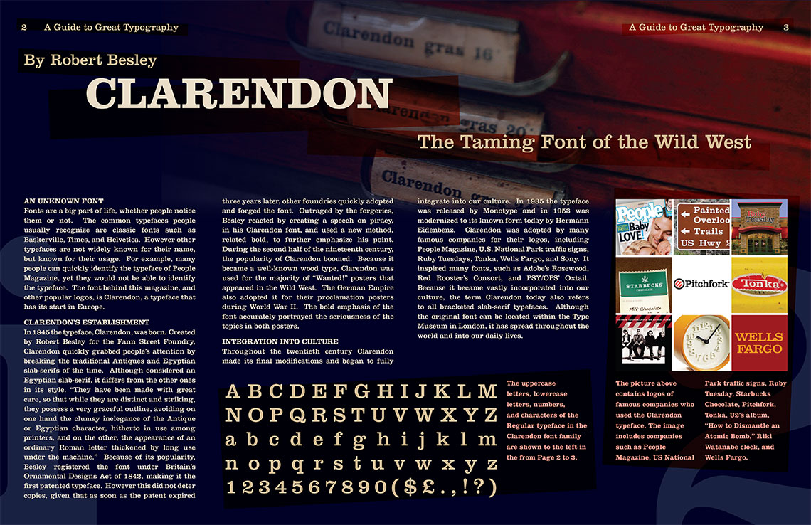 Clarendon Magazine Spread