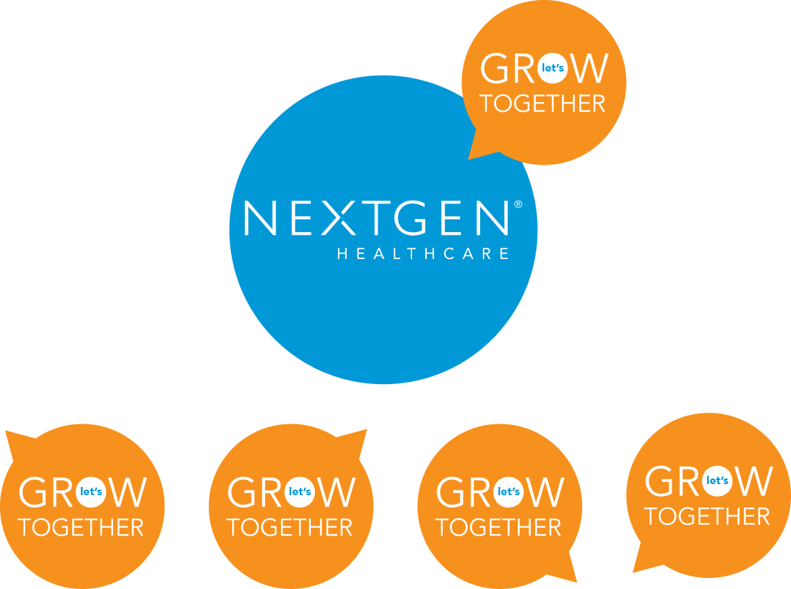 NextGen Healthcare Let's Grow Together logo