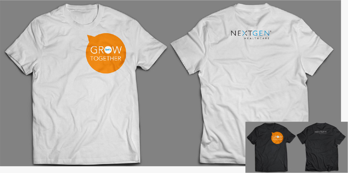 NextGen Healthcare Let's Grow Together t-shirts