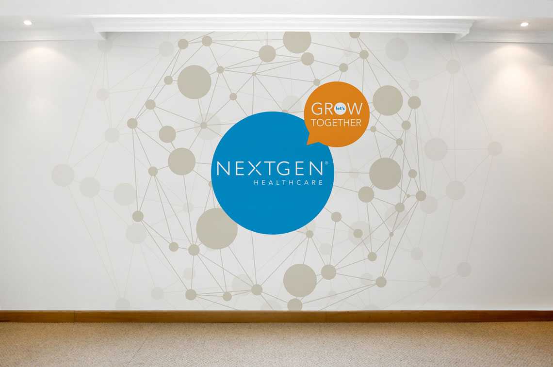 NextGen Healthcare Let's Grow Together wall